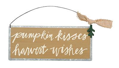 Pumpkin Kisses Sign