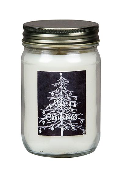 Balsam Fir Soy Mason Jar Candle with Tree