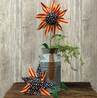 Americana Sunflower Picks (Set of 2)
