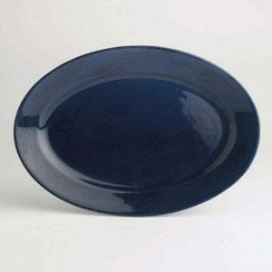 Sonoma Navy Oval Platter, 12 inch