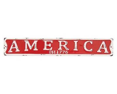 America Enamel Street Sign
