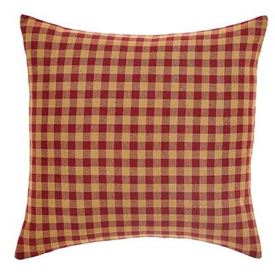 Burgundy Check Fabric Throw Pillow