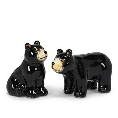 Black Bear Salt & Pepper Shaker Set