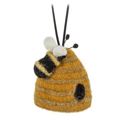 Beehive with Bee Ornament