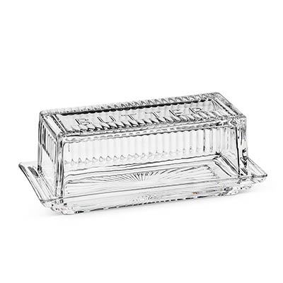 Glass Covered Butter Dish