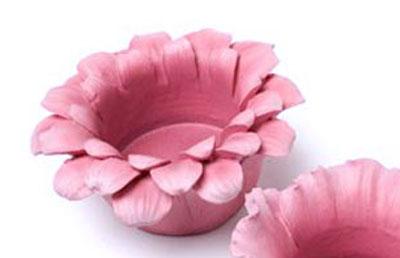 Pink Flower Head Tealight