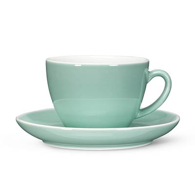 Mint Diner Latte Cups and Saucers (Set of 12)