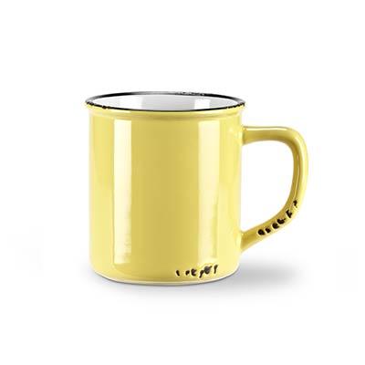 Yellow Enamel Look Coffee Mugs (Set of 6)