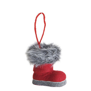 Boot with Fur Trim Ornament