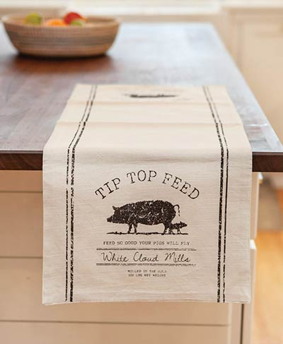 Tip Top Pig 48 inch Table Runner