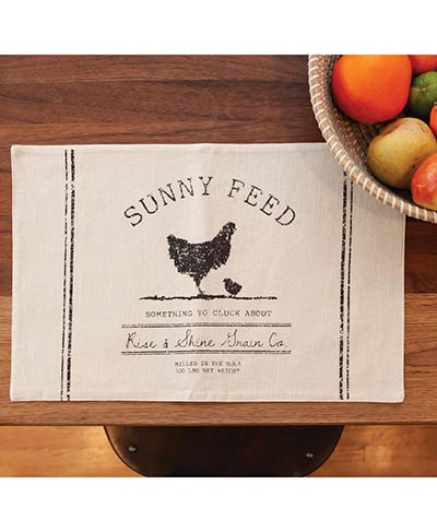 Sunny Feed Chicken Placemat