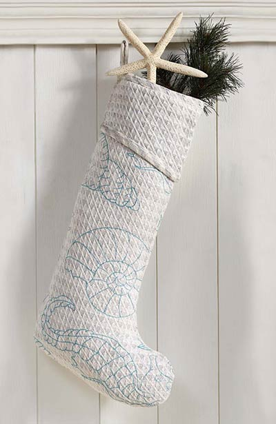Arielle Beach Christmas Stocking Extra Long