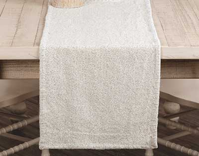 Nowell Creme 48 inch Table Runner