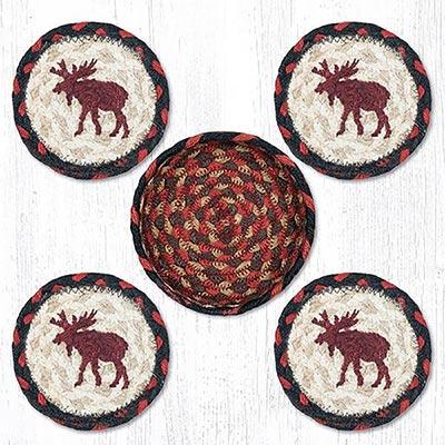 Moose Braided Coaster Set