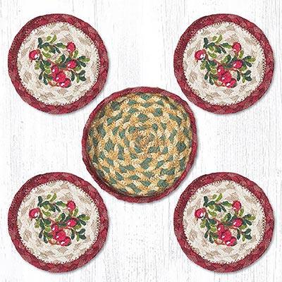 Cranberries Braided Coaster Set
