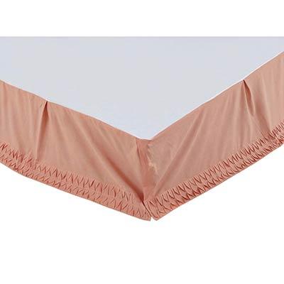 Adelia Apricot Queen Bed Skirt