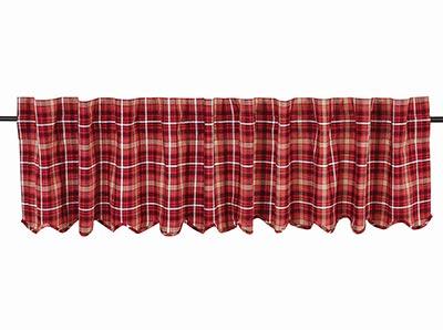 Braxton Red Plaid Valance (90 inch)