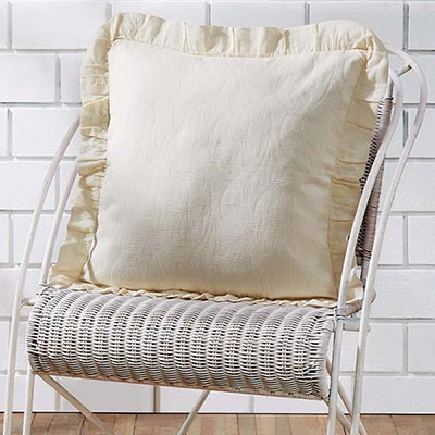 Abigail Ruffled Accent Pillow (with Down Fill)