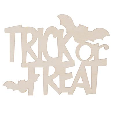 Trick or Treat Unfinished Wood Cutout