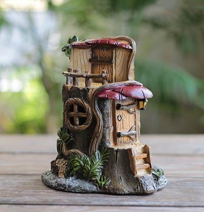 Stump U0026 Mushroom Fairy House