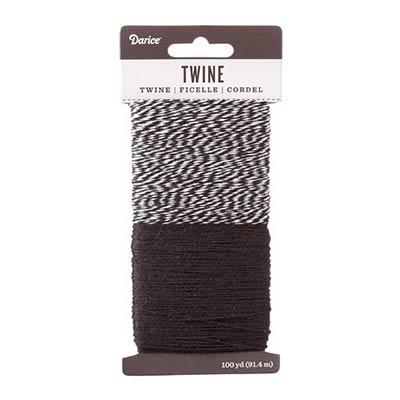 Baking Twine, 100 yards - Black & White