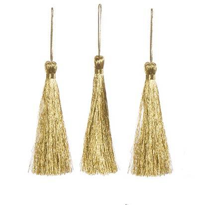 Metallic Gold Tassels (3 pack)