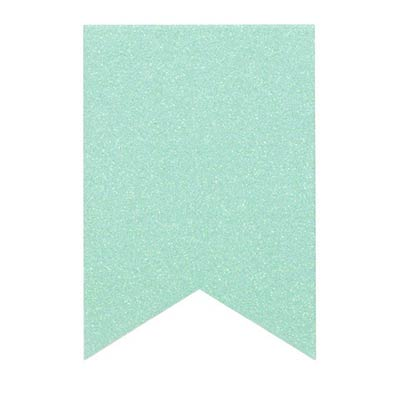 Mint Glittered Fishtail Chipboard Banners (10 pack)
