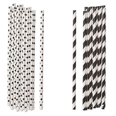 Black Paper Straws (Set of 100)