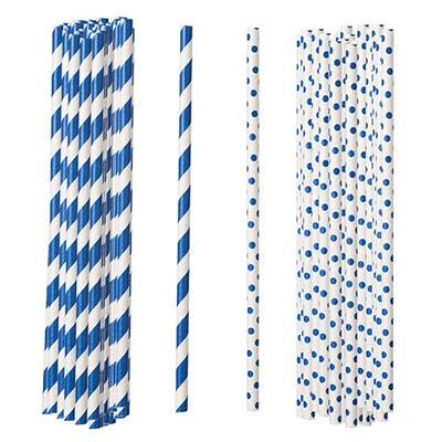 Blue Paper Straws (Set of 100)