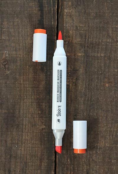 Studio 71 Dual-Tip Alcohol Ink Marker - Orange Peel