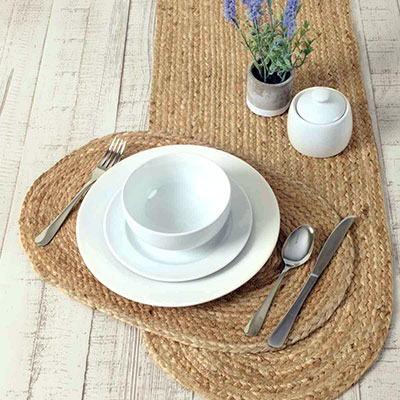 Natural Braided Placemats (Set of 6)