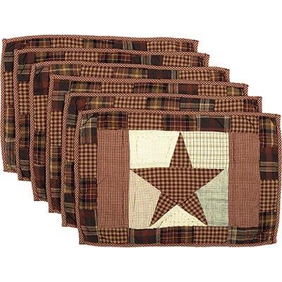 Abilene Star Placemats (Set of 6)