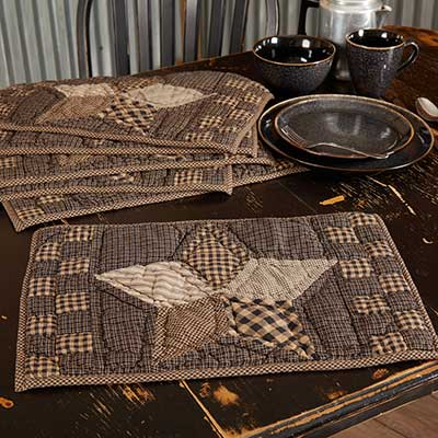 Farmhouse Star Quilted Placemats (Set of 6)