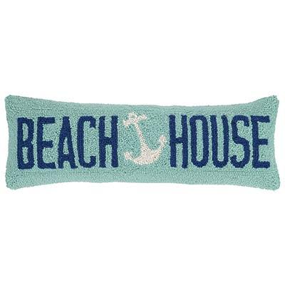 Beach House Anchor Hooked Pillow