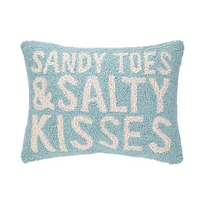 Sandy Toes and Salty Kisses Hooked Pillow