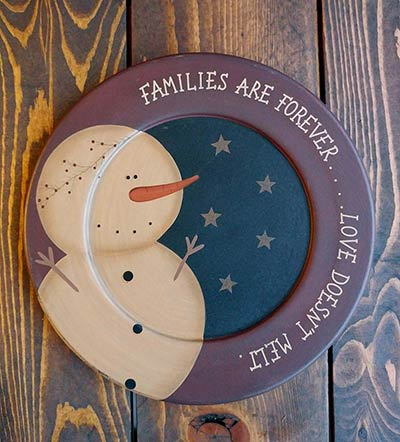 Families Are Forever Snowman Plate