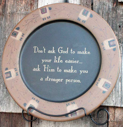 A Stronger Person Plate