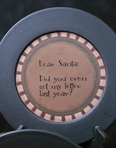Get My Letter Santa Plate