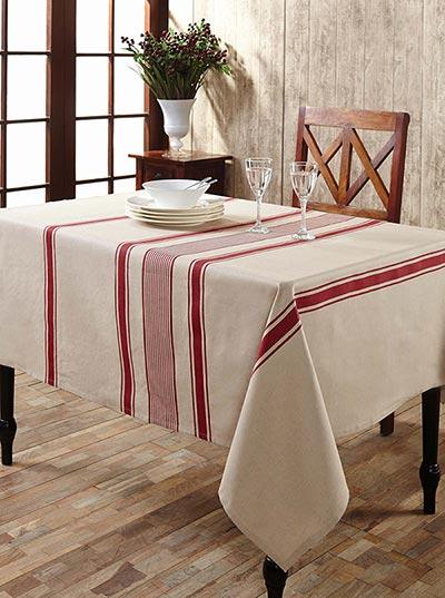 Charlotte Rouge Cotton U0026 Linen Tablecloth   Rectangle (57 X 80 Inch)