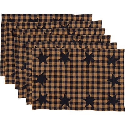 Navy Star Placemats (Set of 6)