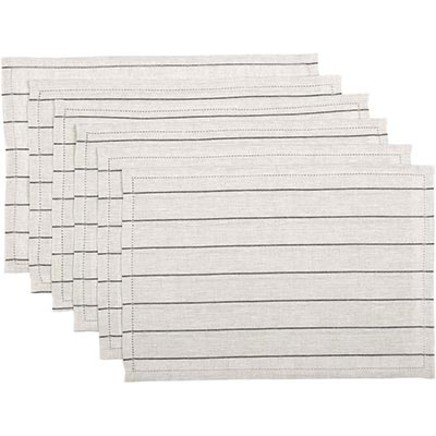 Charley Black Placemats (Set of 6)