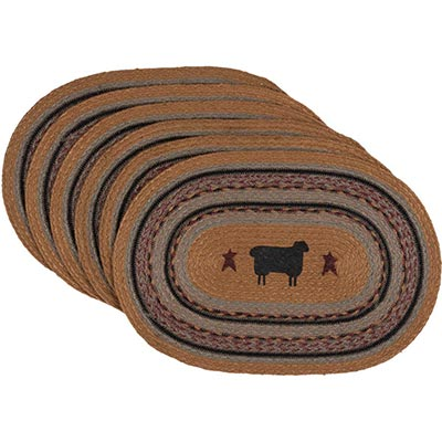 Heritage Farms Sheep Braided Placemats (Set of 6)