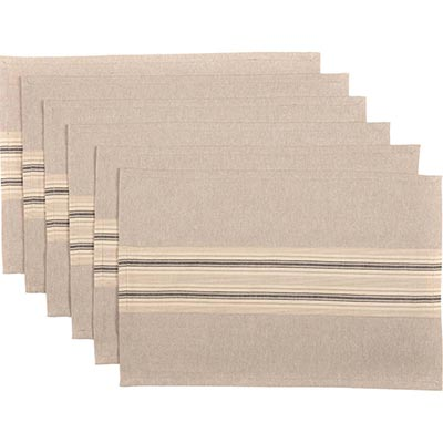 Sawyer Mill Charcoal Placemats (Set of 6)