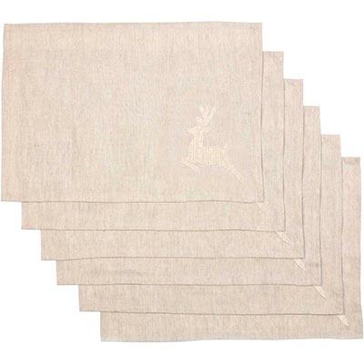 Creme Lace Deer Placemats (Set of 6)
