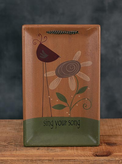 Sing Your Song Hanging Tray