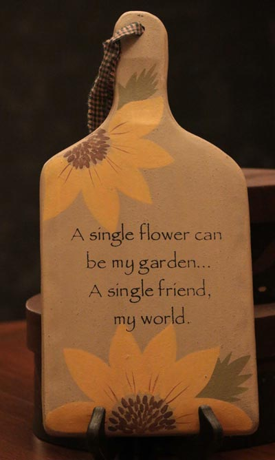 A Single Flower Hanging Paddle