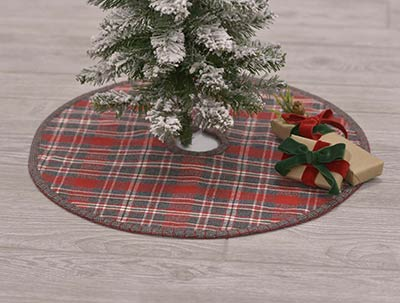 anderson plaid christmas tree skirt mini