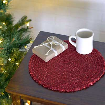 Dyani Red Round Placemats (Set of 6)