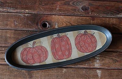 Whimsy Pumpkin Oval Tray