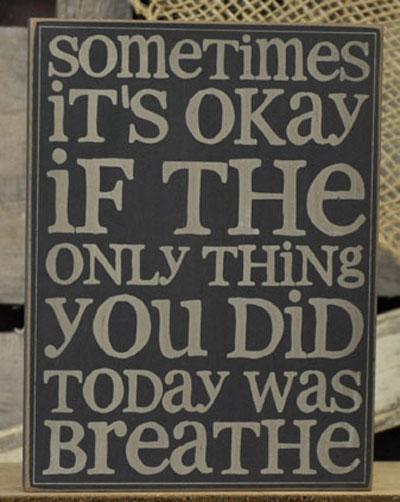 Breathe Wall Plaque - Black